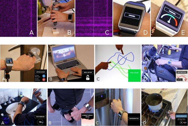 System recognizes objects touched by user, enabling context-aware smartwatch apps
