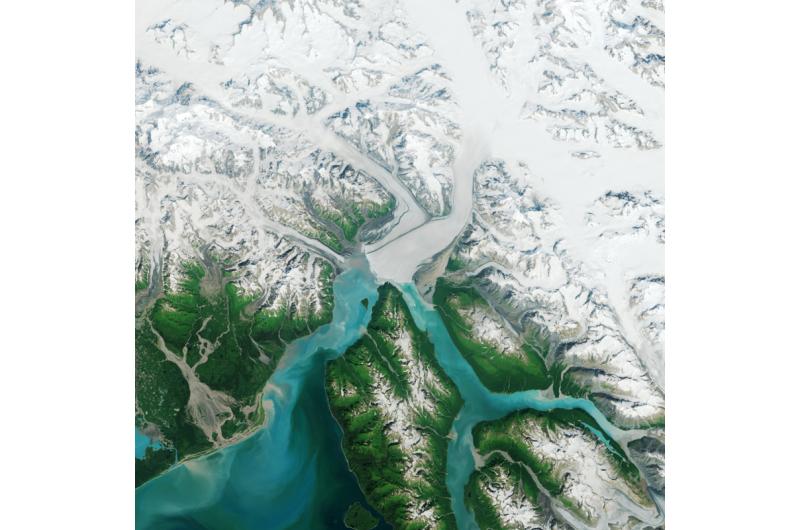 The advance of Hubbard Glacier
