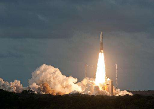 The Ariane, built by Airbus Defence and Space. Airbus has unveiled plans for a reusable space rocket launcher that should be rea