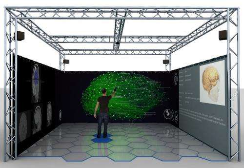 The BrainX3 virtual reality space
