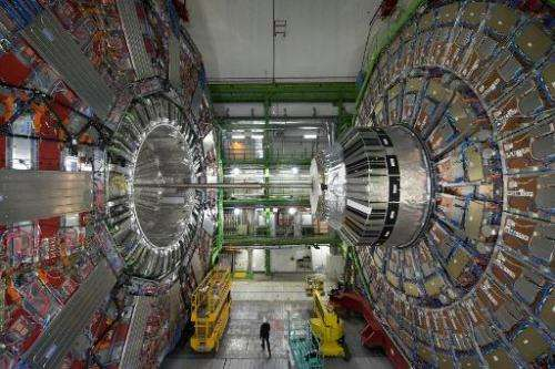 The CMS (Compact Muon Solenoid) Cavern at the European Organisation for Nuclear Research (CERN) in Meyrin, near Geneva, Switzerl