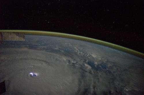 The electric eye of Cyclone Bansi