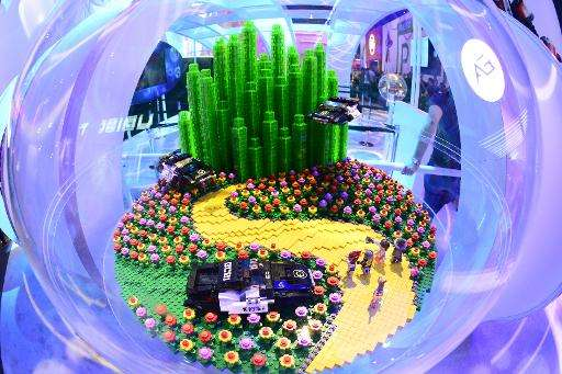 The Emerald City Lego set for Lego Dimensions video game at the E3 Electronic Entertainment Expo in Los Angeles on June 18, 2015