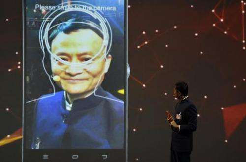 The founder and executive chairman of Alibaba Group, Jack Ma, speaks during the official opening of the CeBIT technology fair in