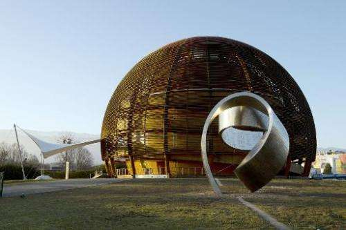 The Globe of Science and Innovation at the European Organisation for Nuclear Research (CERN) in Meyrin, near Geneva, Switzerland