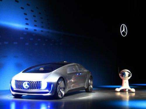 The Mercedes Benz F 015, an electric and autonomous concept car, is introduced at the Consumer Electronics Show in Las Vegas, Ne