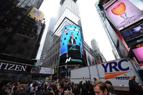The Nasdaq stock index in New York City, which is seen as an indicator of the tech sector, has not yet touched its March 2000 hi