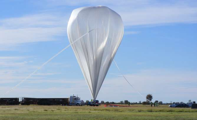 The rise and fall of giant balloons on the edge of space