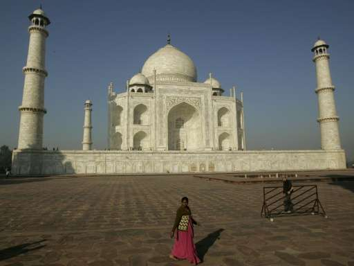 The Taj Mahal—India's top tourist attraction—was built by Mughal emperor Shah Jahan as a tomb for his beloved wife Mumtaz Mahal,