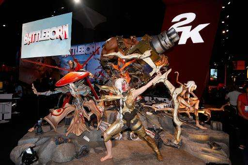 'Thorn' from the new Gearbox Software title 'Battleborn' poses during the Annual Gaming Industry Conference E3, at the Los Angel