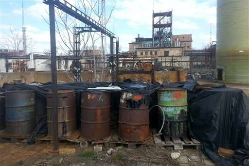 Toxic waste defiles defunct chemical plant in Hungary