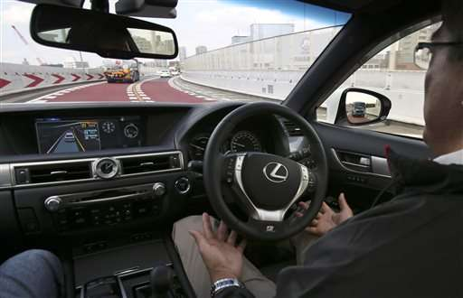 Toyota shows self-driving technology being readied for 2020