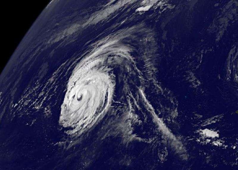 Typhoon Kilo moving through northwestern Pacific Ocean