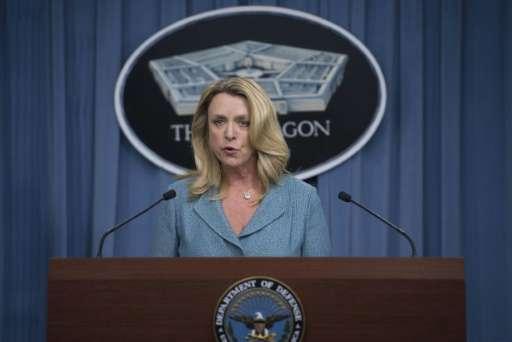 US Air Force Secretary Deborah Lee James, announcing the long range strike bomber contract (LRSB) award to Northrop Grumman on O