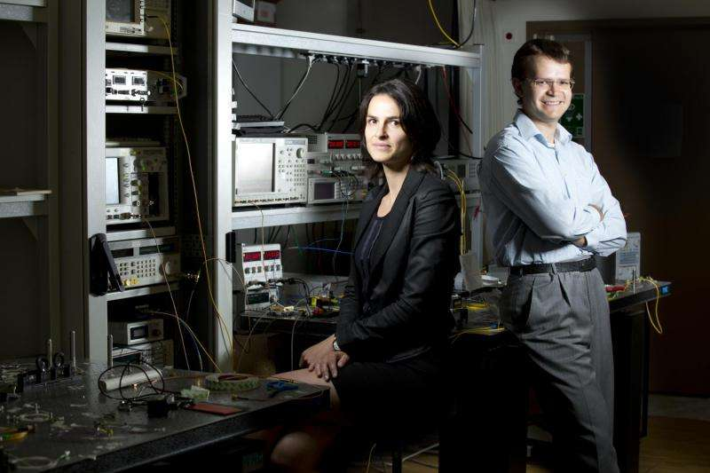 Using optical fiber to generate a two-micron laser