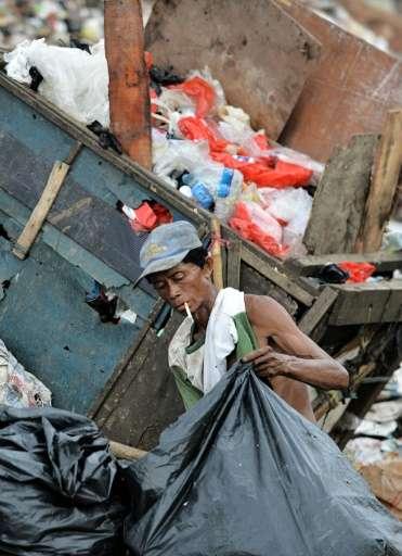 Virtually all rubbish from Jakarta is dumped an hour's drive away at Bantar Gebang