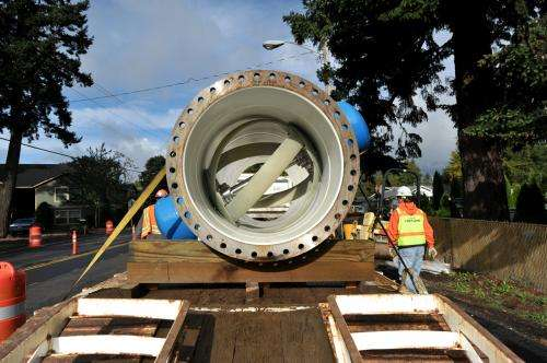 Water in Oregon pipeline is tapped for electricity