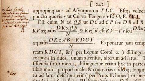 What learned hand wrote all over Isaac Newton's masterpiece?