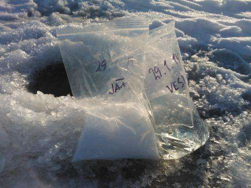 When waste water freezes, it is purified