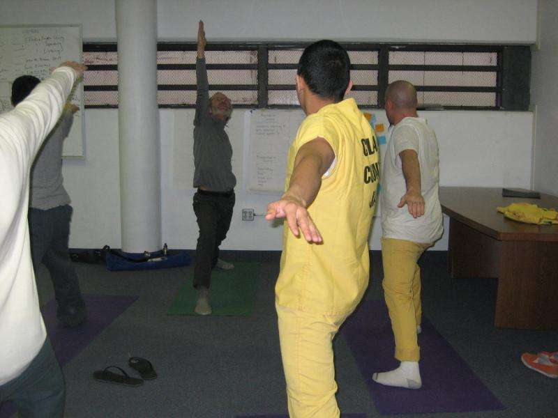 Yoga in jails helps make better fathers
