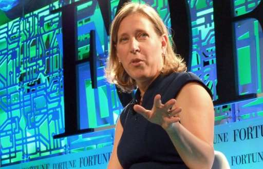 YouTube chief executive Susan Wojcicki, pictured speaking in Aspen, Colorado on July 13, said she was pleased with the site's gr