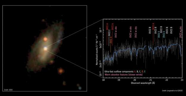 A Milky Way twin swept by an ultra-fast X-ray wind