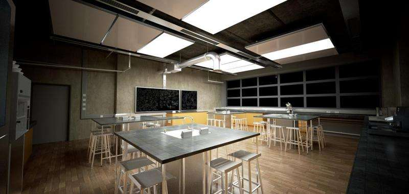 Ceiling panel cools regardless of climate