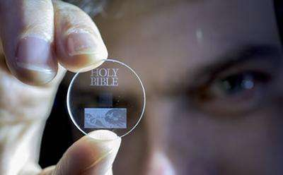 Eternal 5D data storage could record the history of humankind