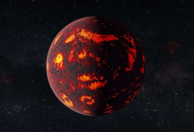 First detection of gases in super-Earth atmosphere