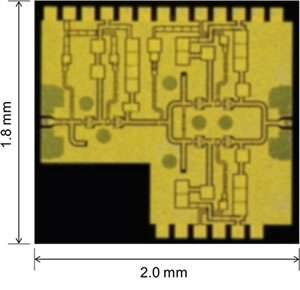 GaN power amplifier with world's highest output performance for W-band wireless transmissions