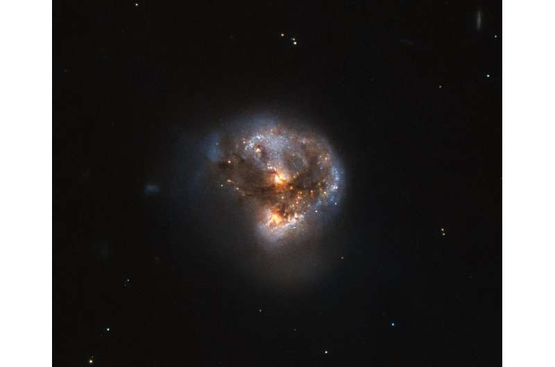 Hubble gazes at a cosmic megamaser