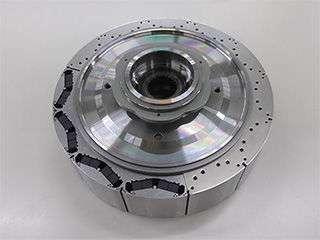 Hybrid car motor uses no heavy rare earth, uses light rare earth element