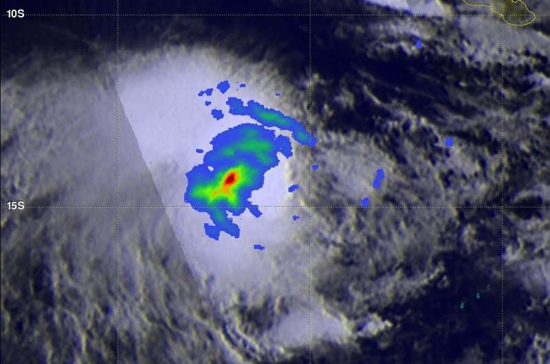 NASA finds heavy rainfall area increasing in Tropical Cyclone Yvette
