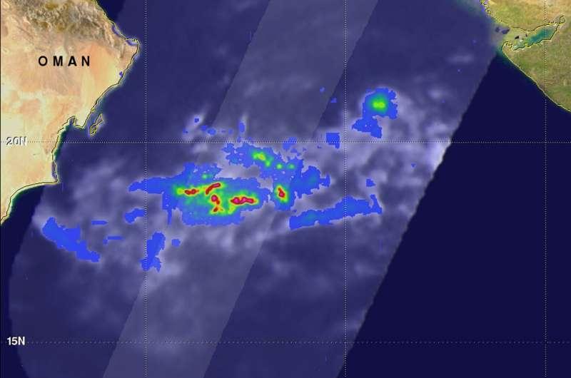 NASA sees heavy rain in Arabian Sea tropical cyclone