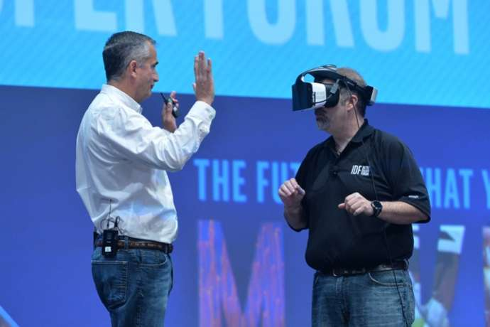 Project Alloy makes use of hand interaction with virtual world