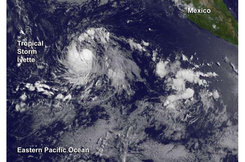 Satellite spots new Tropical Storm Ivette far from Baja California