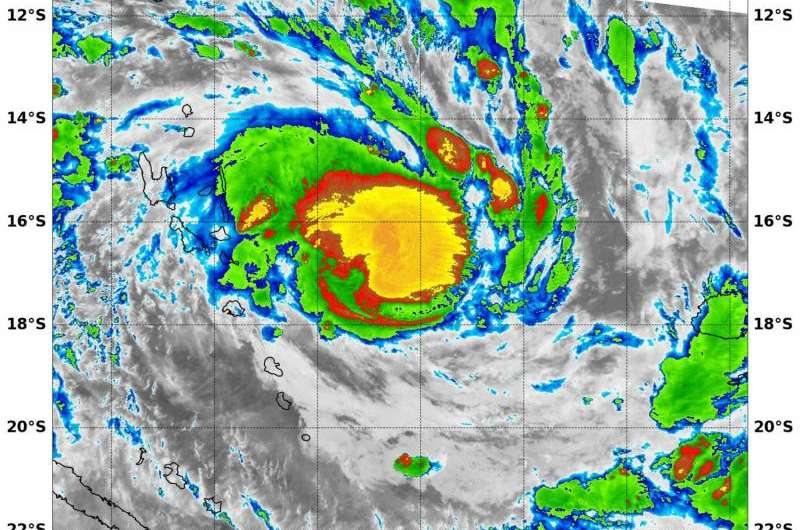 NASA sees Tropical Cyclone Winston form