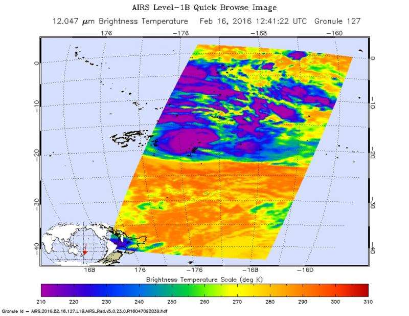 NASA sees Tropical Cyclone Winston threatening Tonga and American Samoa