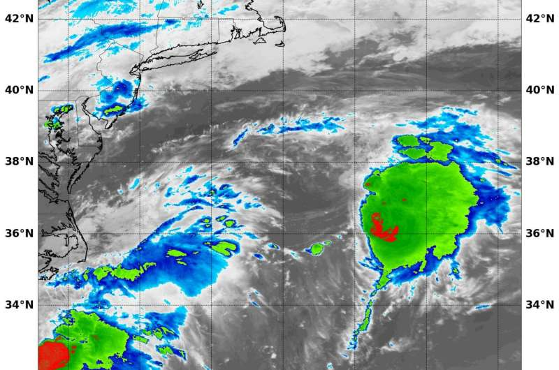 NASA satellite sees dissipation of Tropical Depression 8