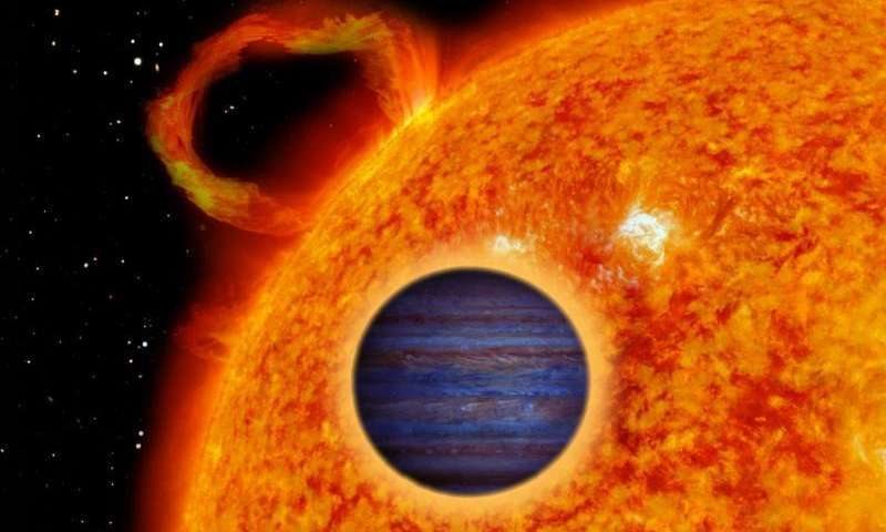 """Astronomers discover a dense """"hot Jupiter"""" exoplanet orbiting a Sun-like star"""