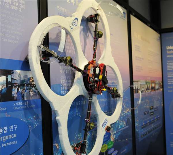 Development of a wall-climbing drone