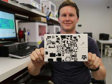 Engineering student designs tactile maps for people who are visually disabled