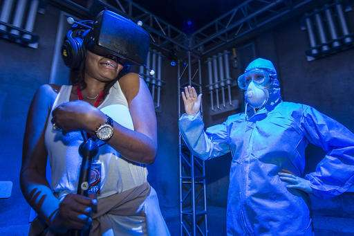 Halloween attractions: virtual reality and interaction