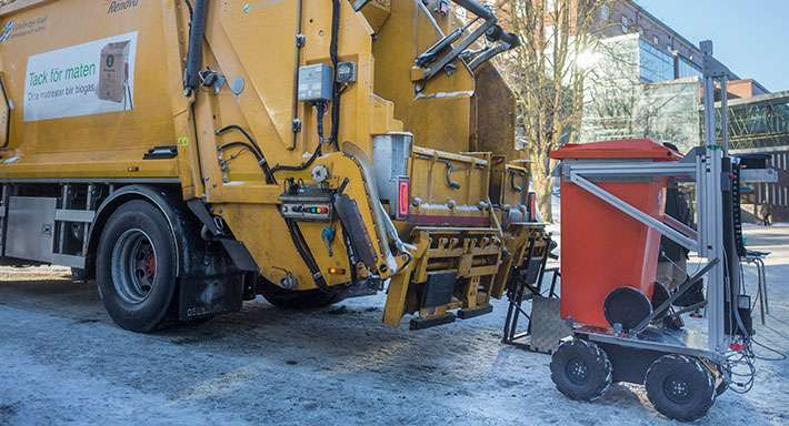 Refuse-collecting robot successfully tested