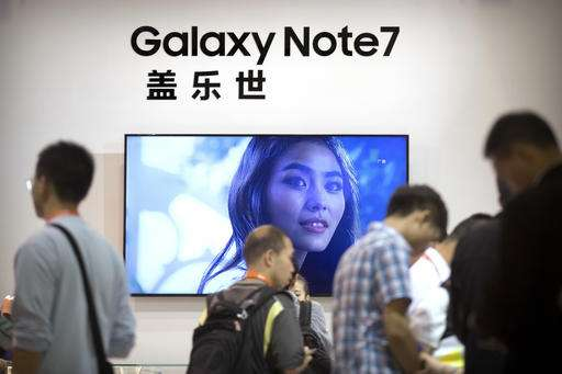 Samsung says three reports of China phone battery fire