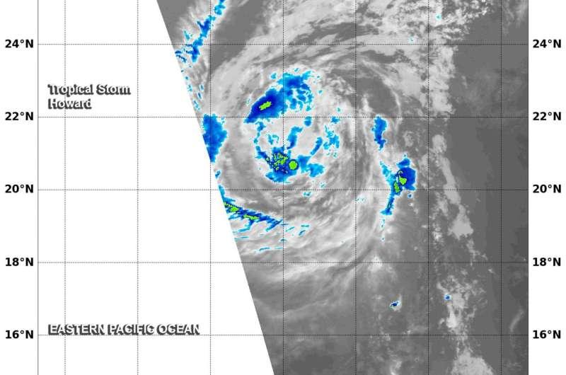 NASA sees tropical storm Howard weakening