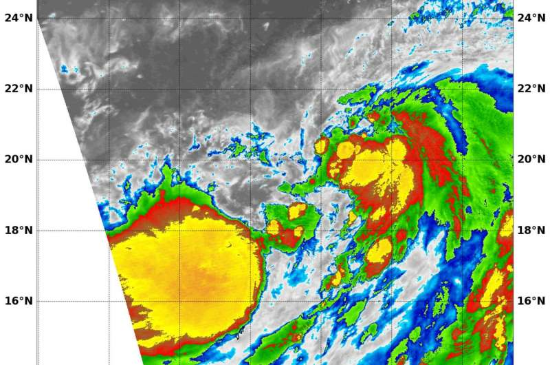 NASA sees Tropical Storm Omais form in Northwestern Pacific