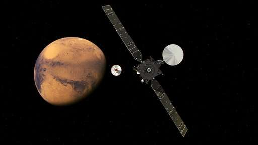 Experimental European Mars probe set for landing on Mars