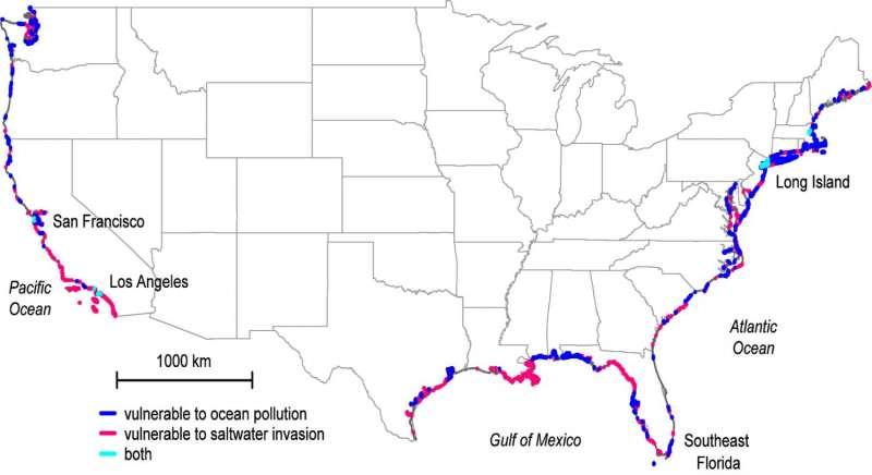Study reveals hidden pollution exchange between oceans and groundwater