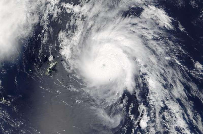 NASA sees Typhoon Namtheun moving through Japan's Ryukyu Islands